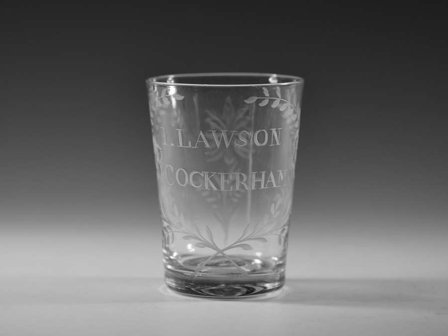 Engraved tumbler English C1790