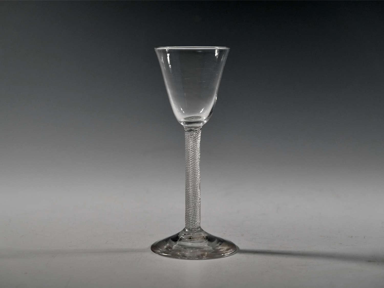 Wine glass air twist English c1755