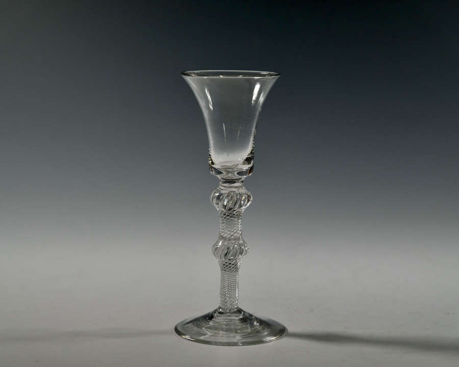 Double knopped air twist wine glass C1755