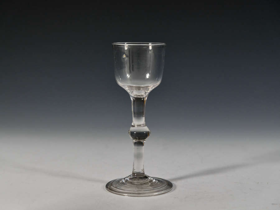 Balustroid wine glass English c1760