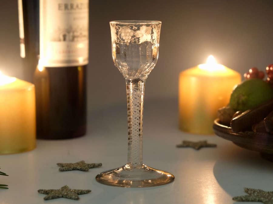 Double series opaque twist wine glass c1765