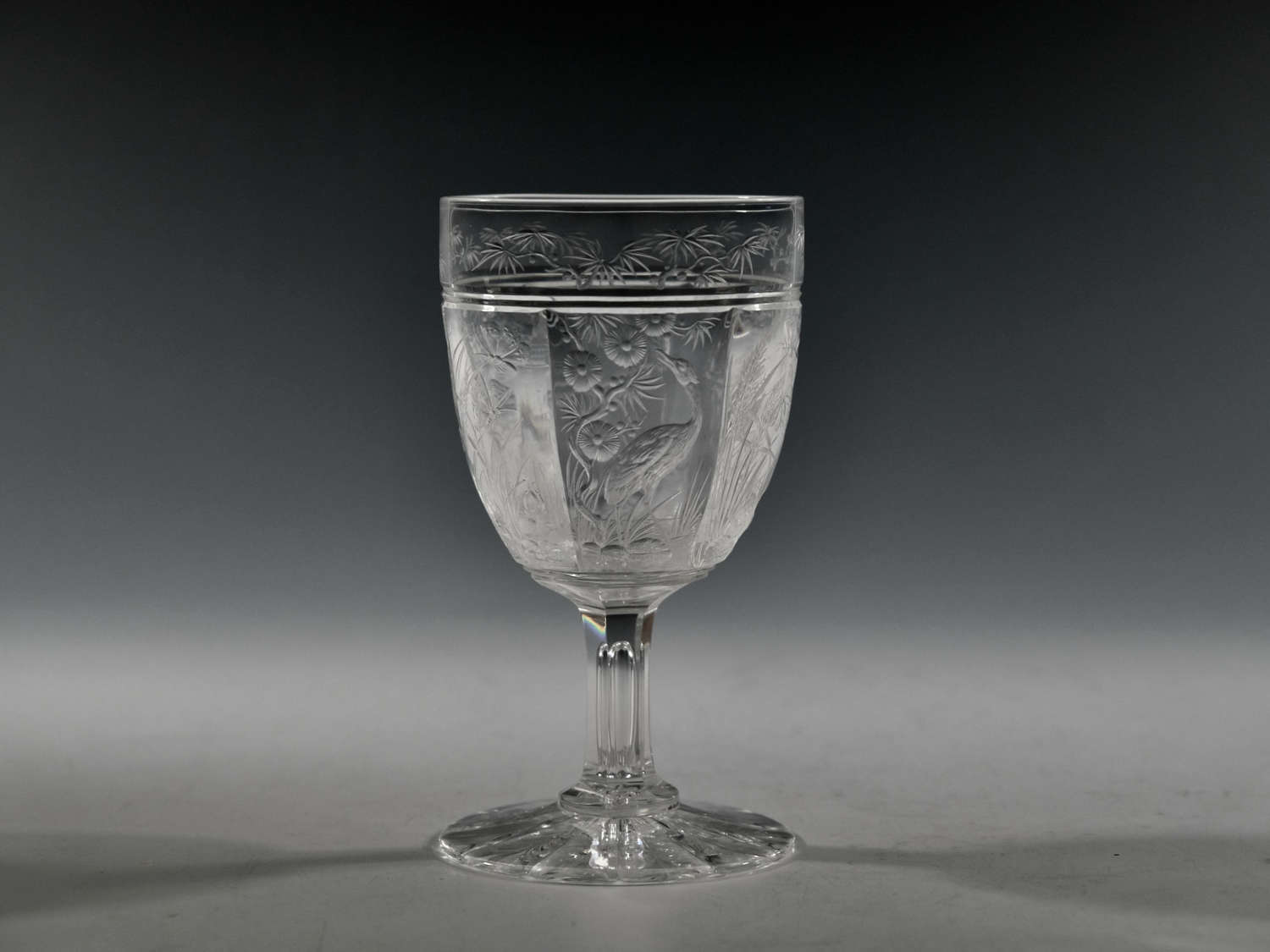 Intagilo cut goblet English c1880