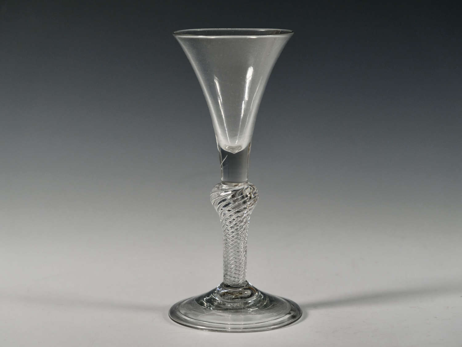 Composite stem wine glass English c1750