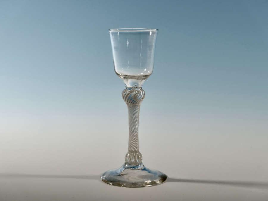 Multi spiral opaque twist wine glass c1760