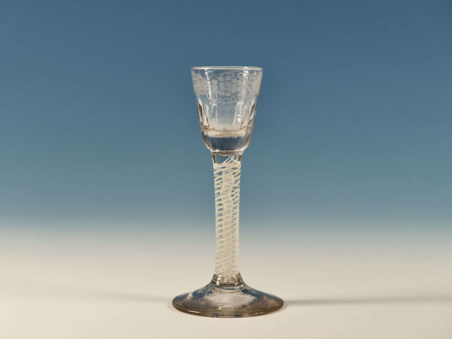 Double series opaque twist cordial glass English C1765