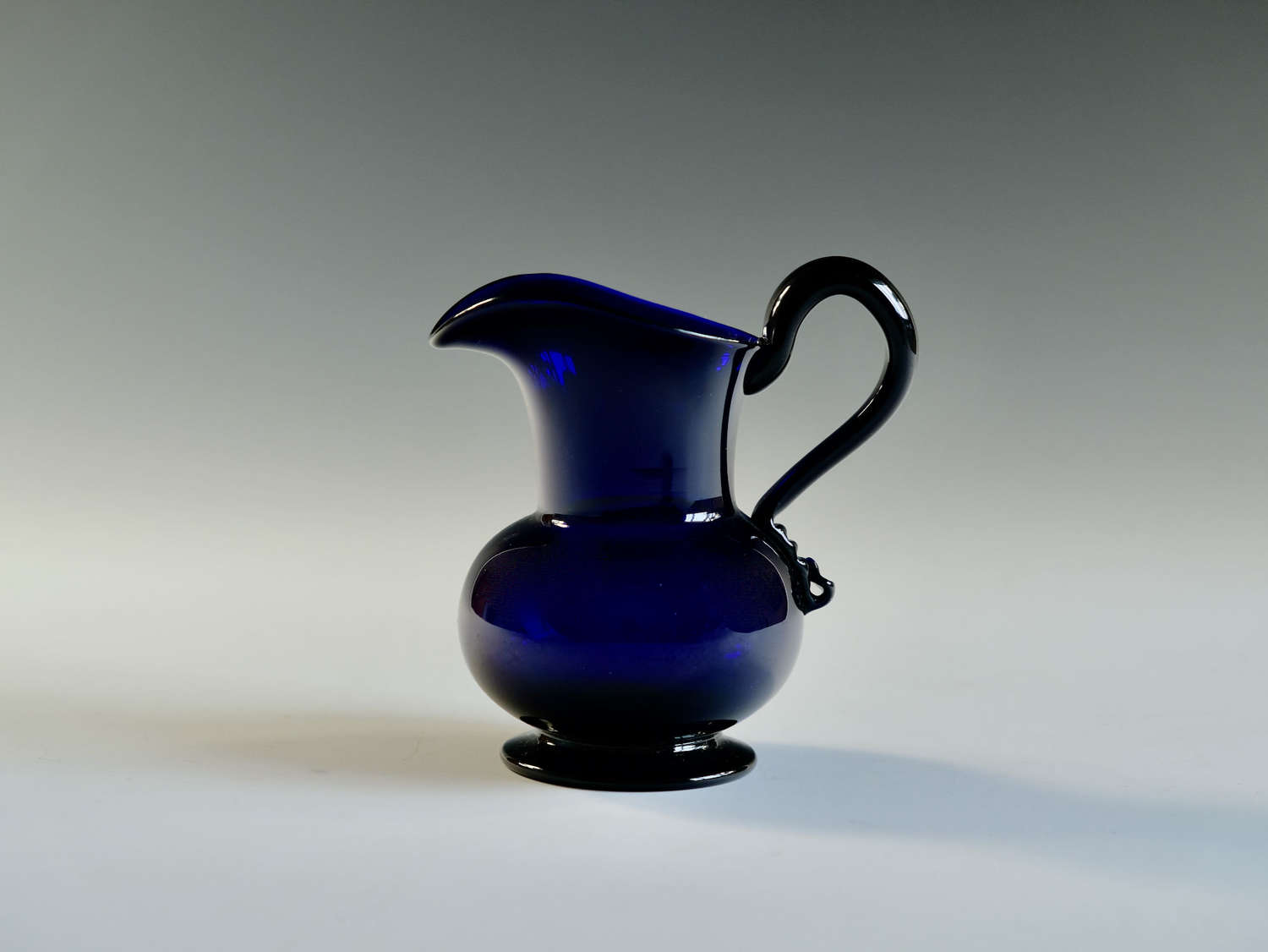 Blue cream jug English c1820