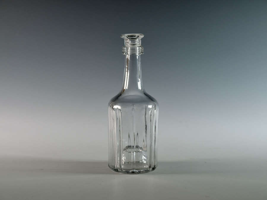 Mallet shaped cruciform decanter c1750