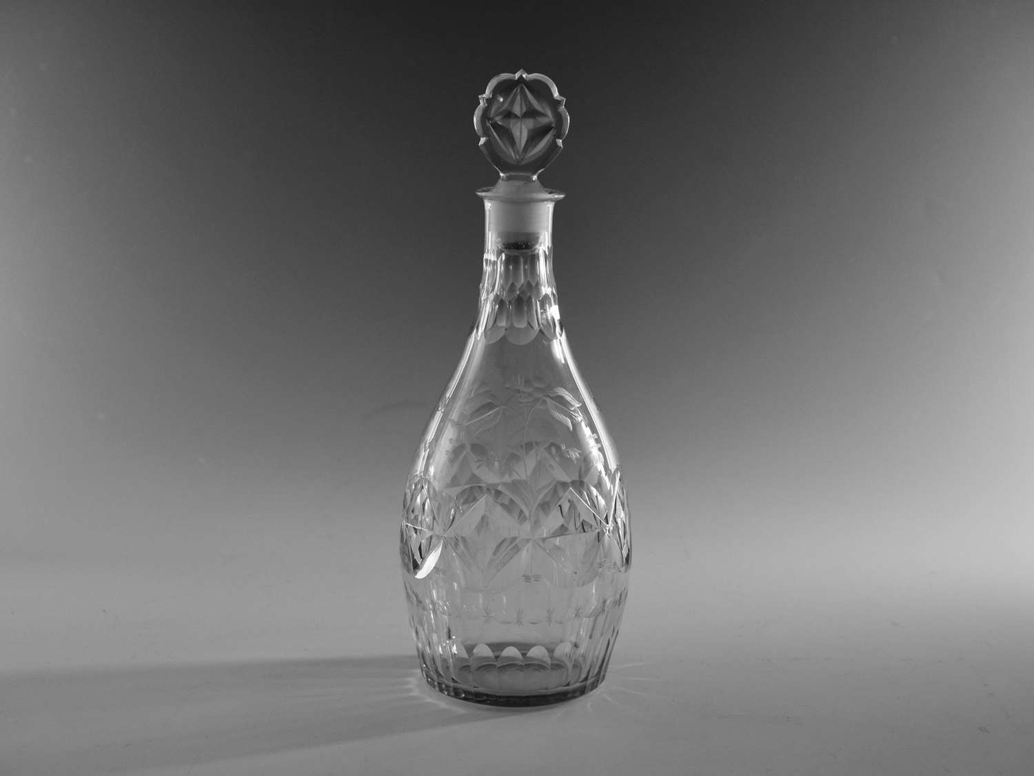 Fine club decanter English c1775