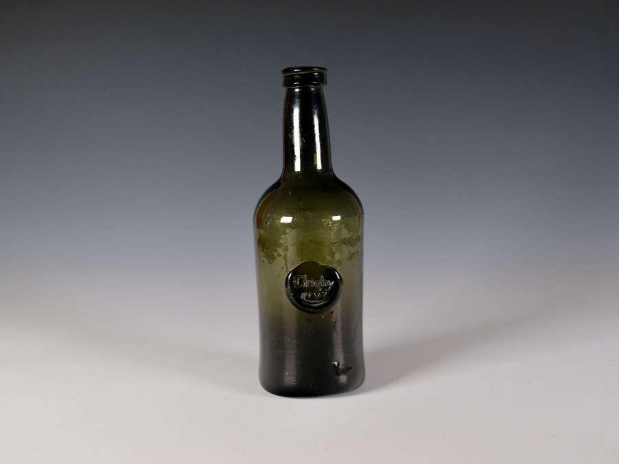 Sealed wine bottle I Grigby 1792