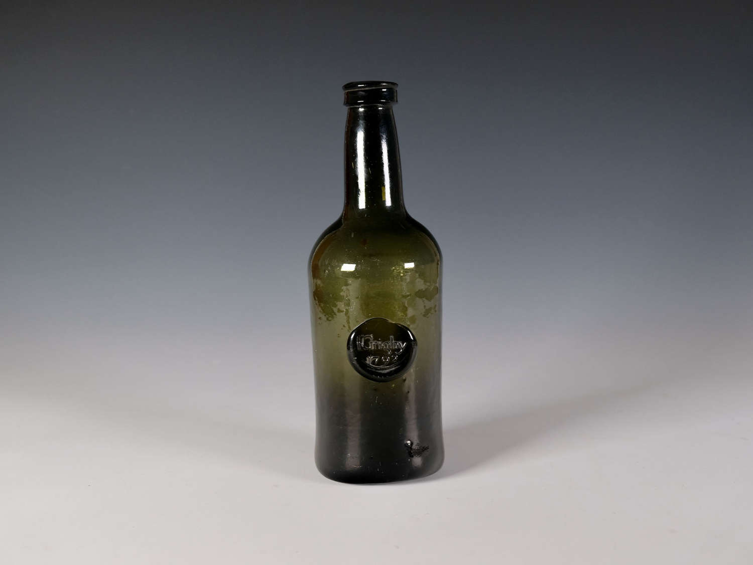 Sealed wine bottle I Grigby 1792