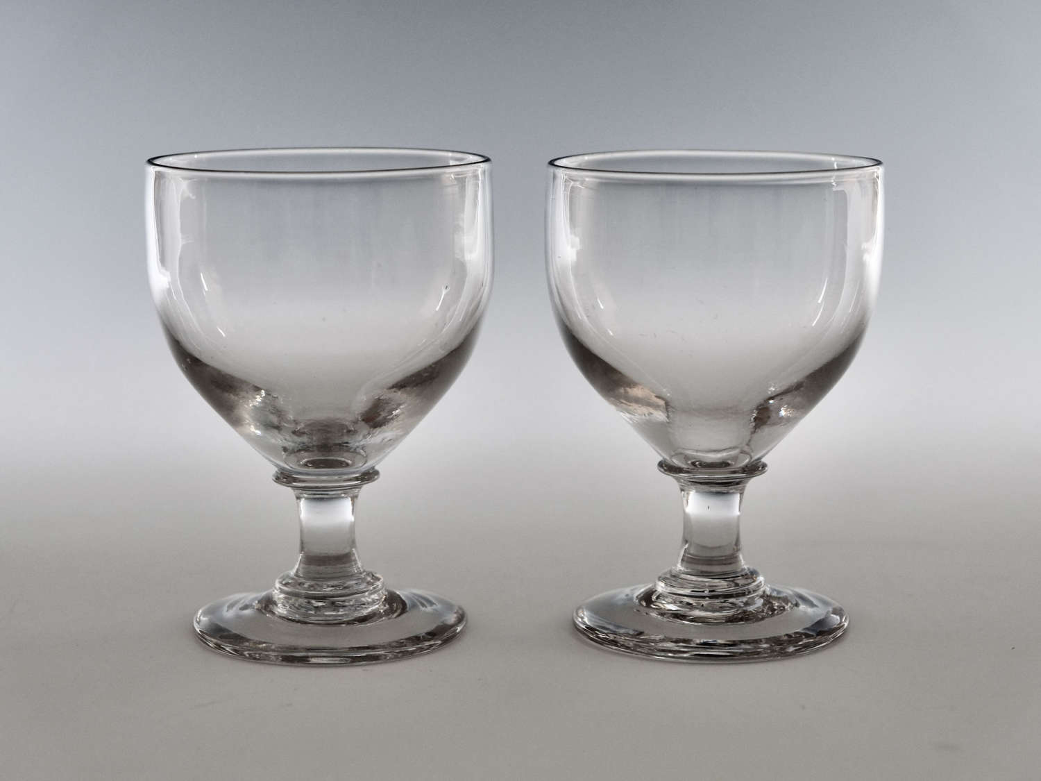 Pair of ovoid rummers English c1810