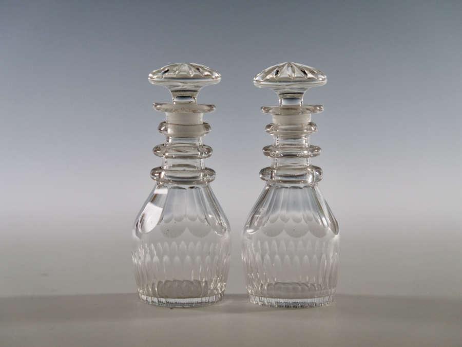 Pair of miniature decanters C1840
