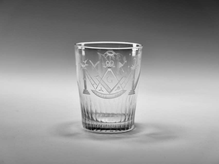 Masonic tumbler English c1800