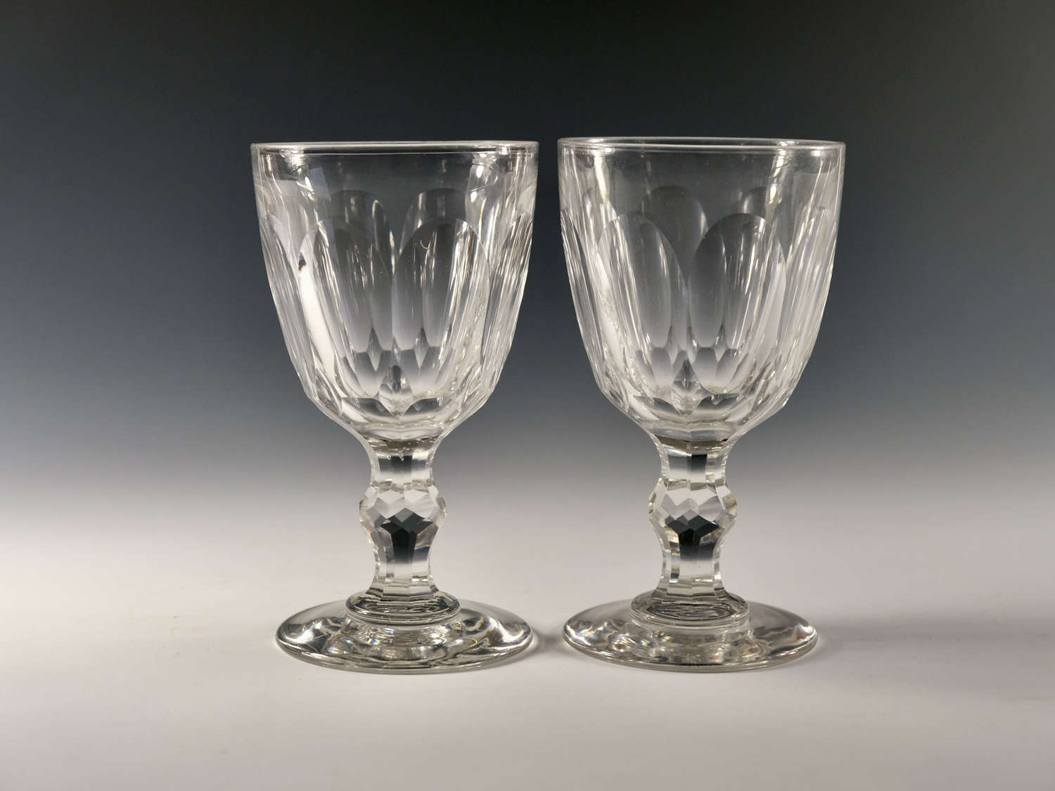 Pair of goblets English c1870