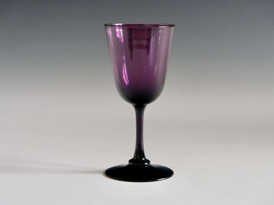 Amethyst wine glass English c1860