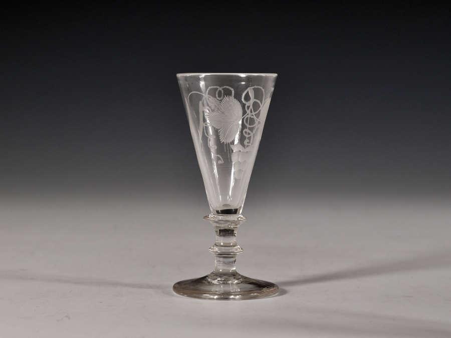 Dwarf ale glass English c1820