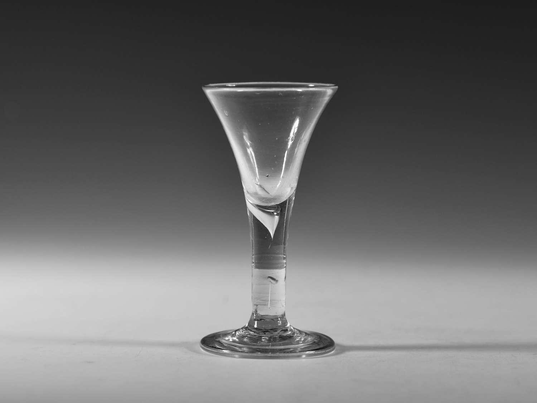 Small drawn trumpet wine glass C1750