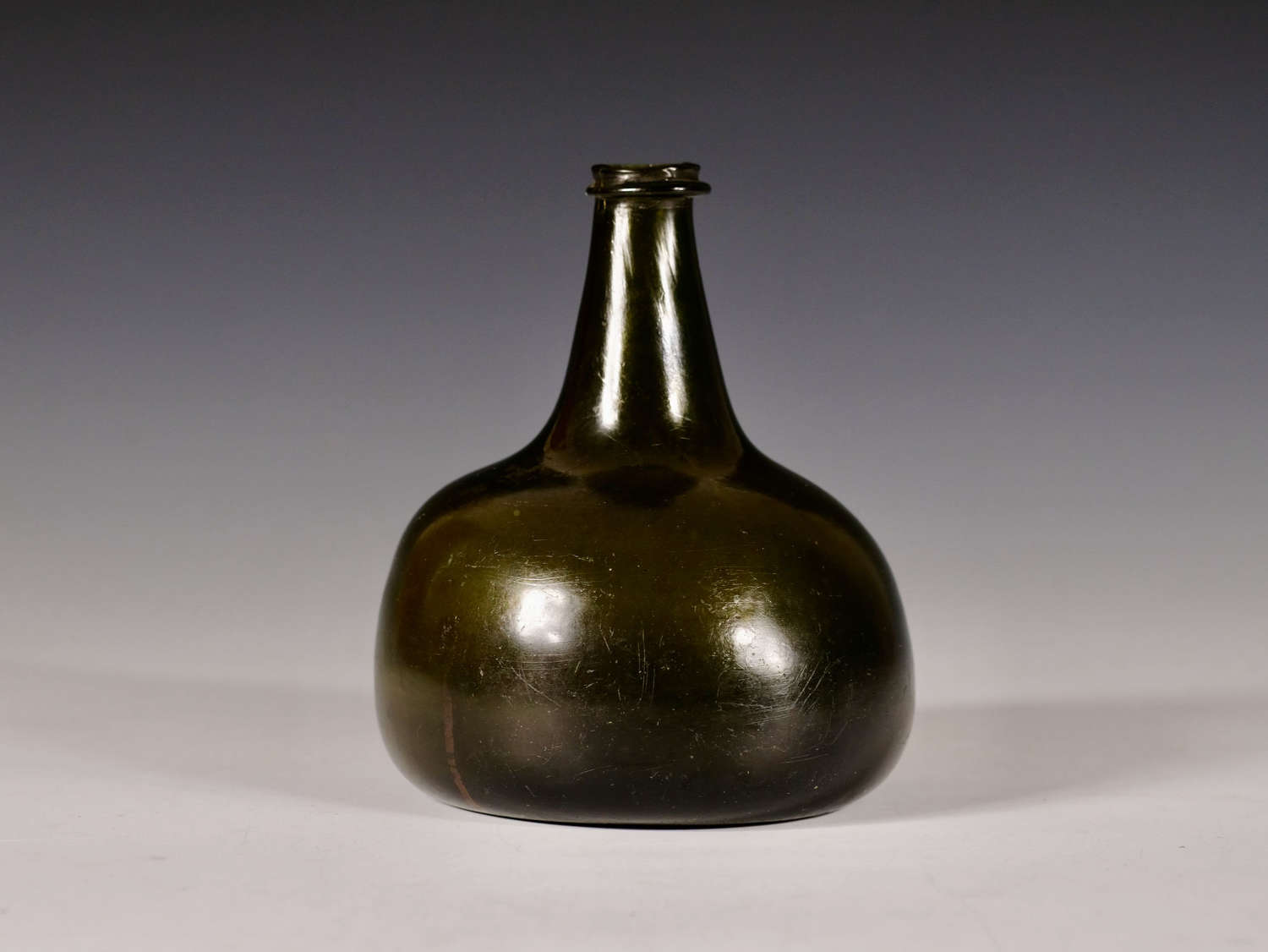 Early 18th century onion wine bottle