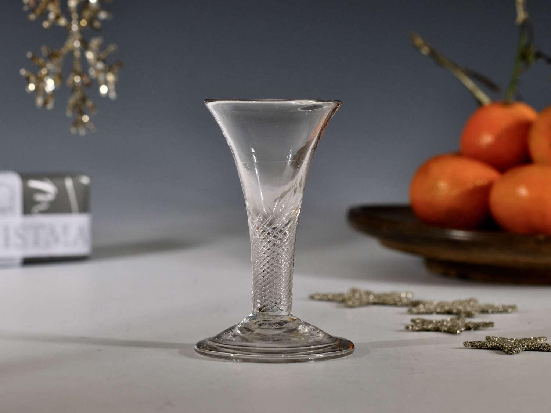 Air twist wine glass c1755