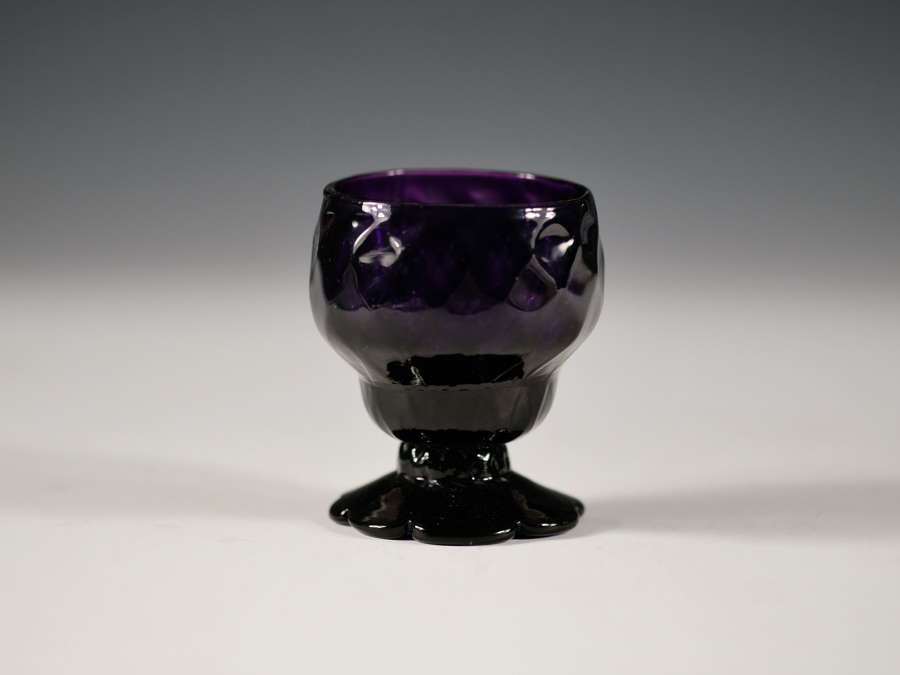 Amethyst bonnet glass English c1780