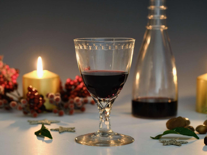 Facet stem wine goblet English c1790