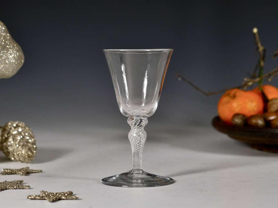 Air twist wine glass English c1755