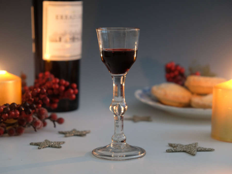 Balustroid wine glass English c17650