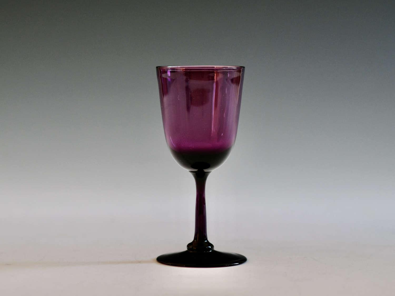 Amethyst wine glass c1860