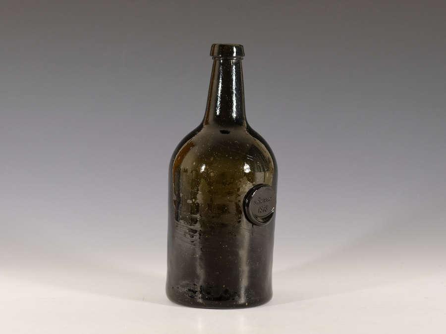 Wine bottle sealed S Banwell 1818