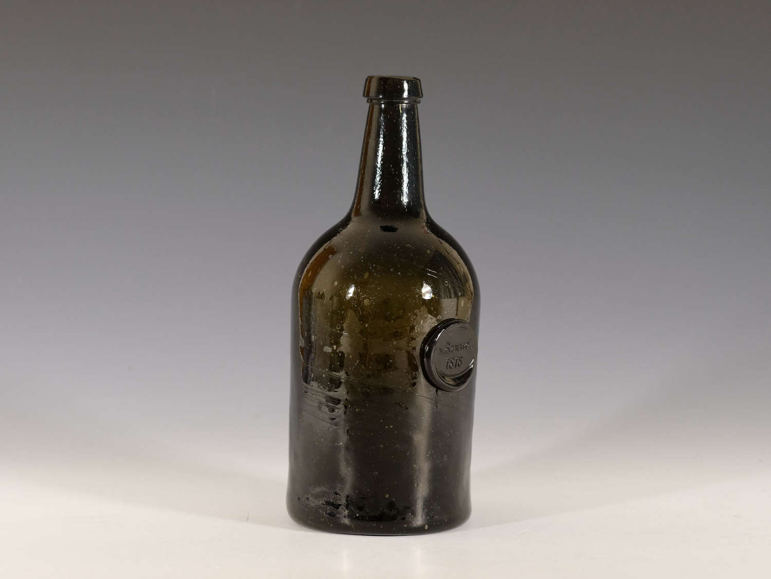 Wine bottle sealed S Banwell 1818