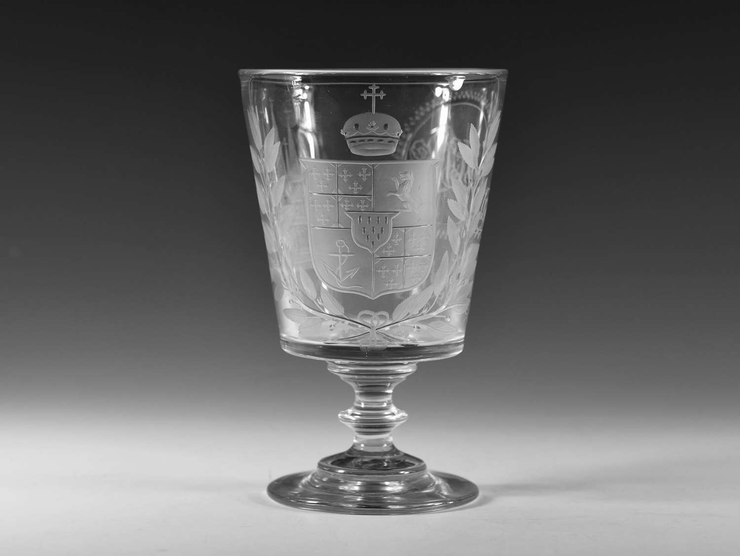 Rummer engraved Lichfield Cathedral c1830