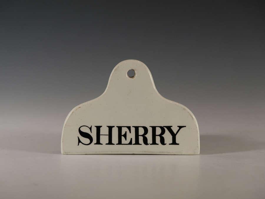 Bin label Sherry Early 19th century