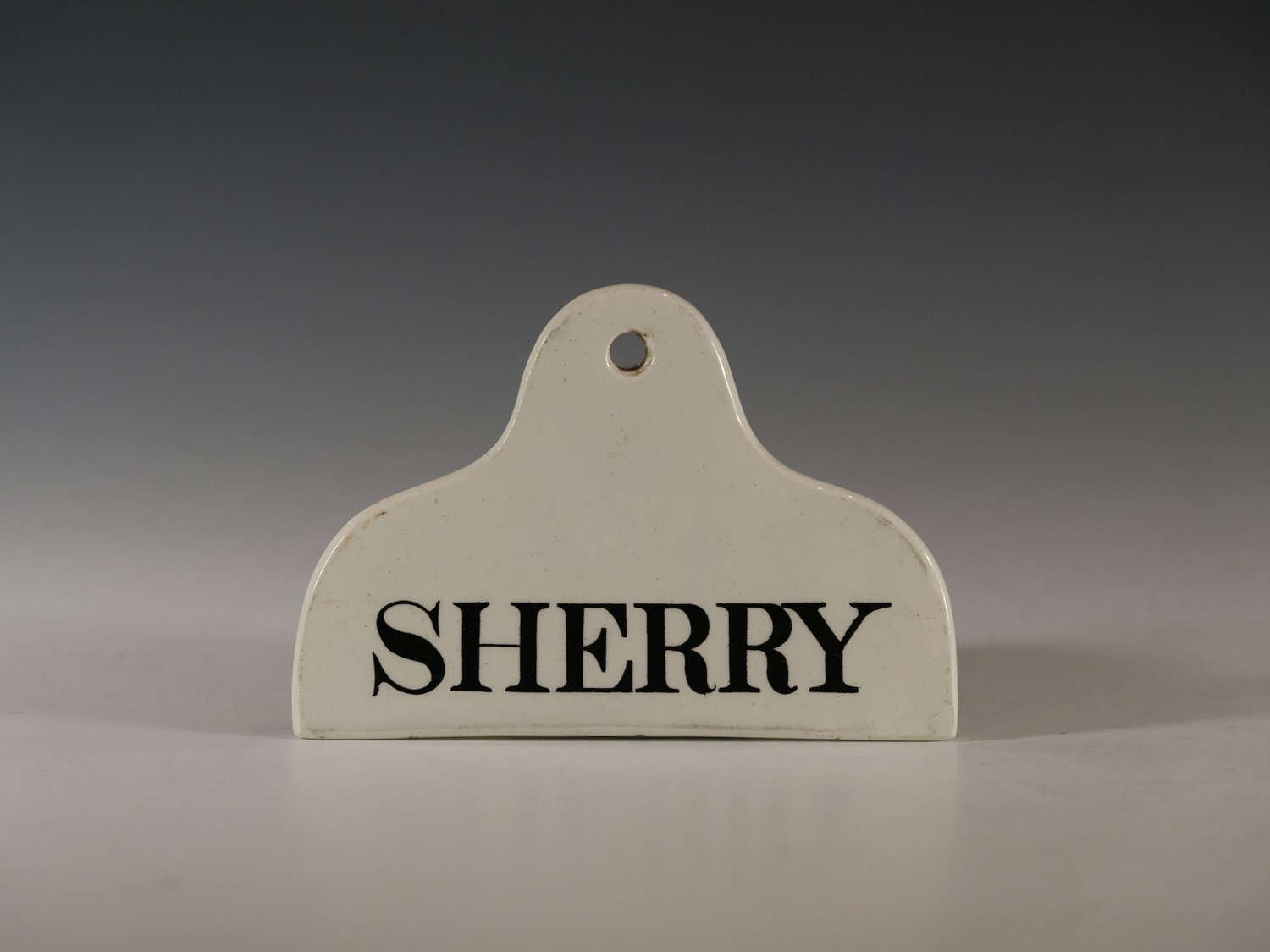 Bin label Sherry Early 19th century