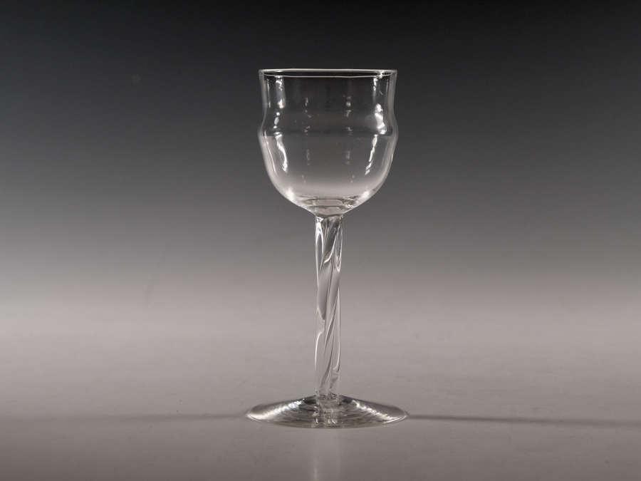 Antique wine glass by Philip Webb c1900