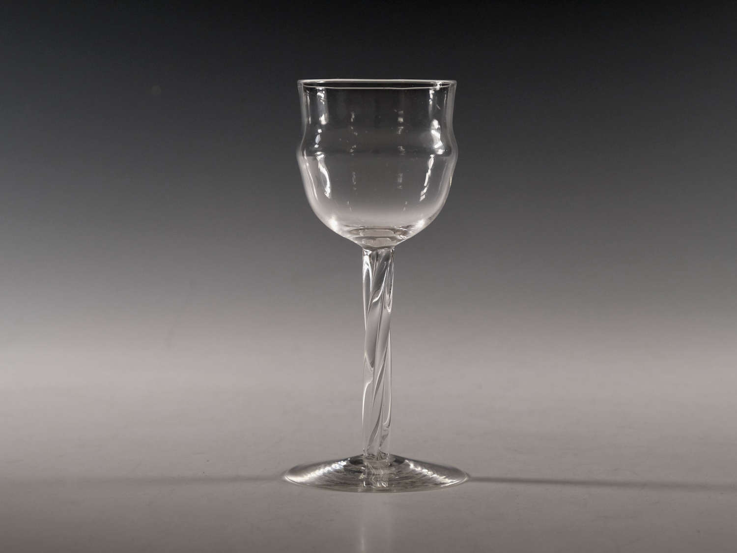 Antique wine glass by Philip Webb c1900