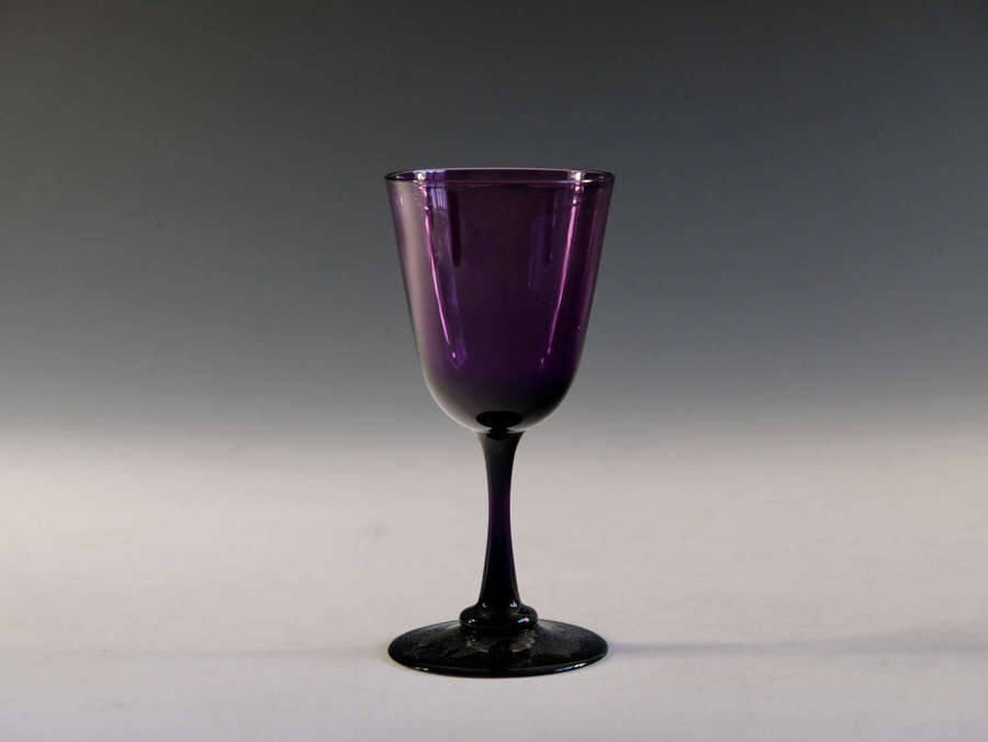 Antique wine glass amethyst English c1860
