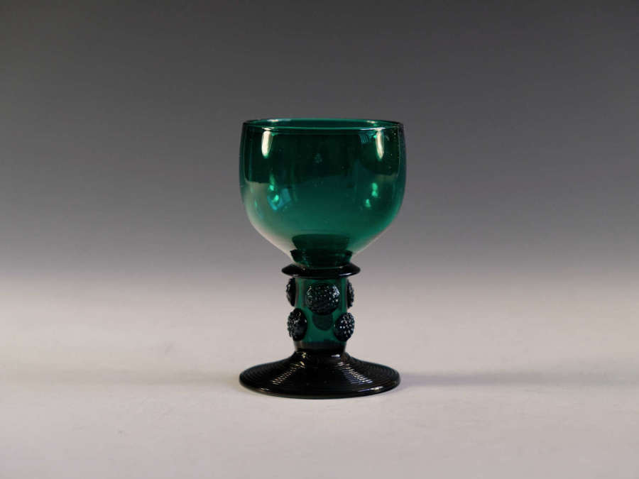 Antique wine glass green English c1830