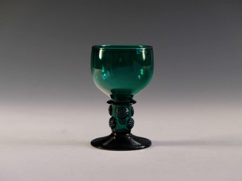 Antique wine glass green English c1830