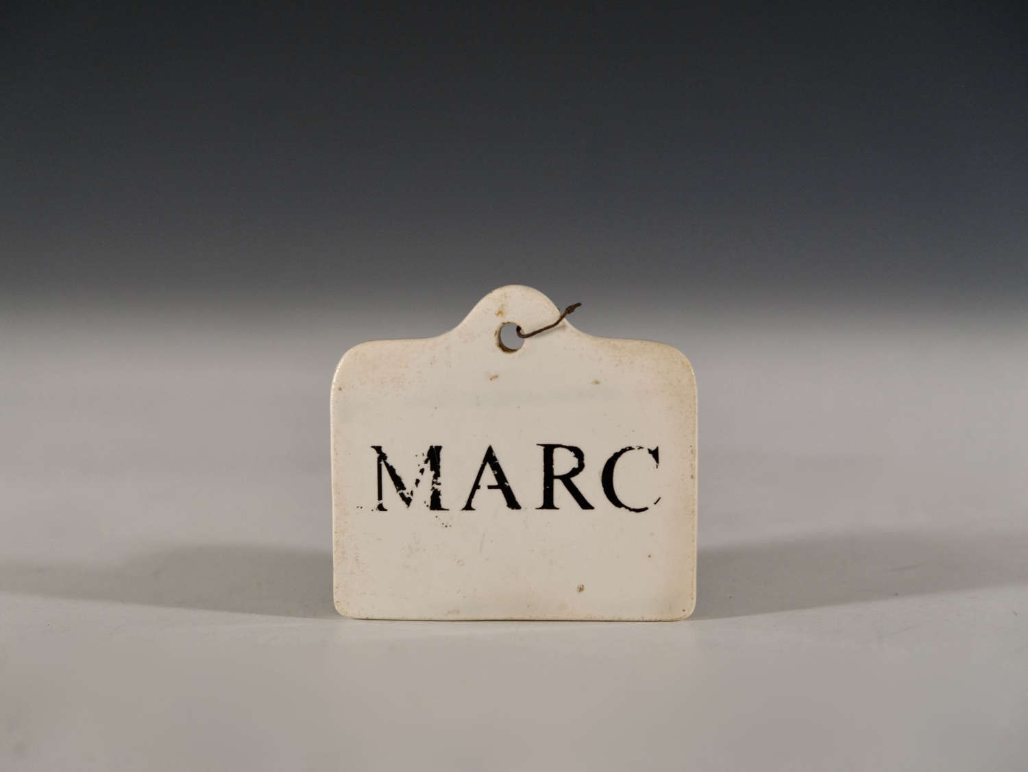 Antique bin label Marc late 18th - Early 19th Century
