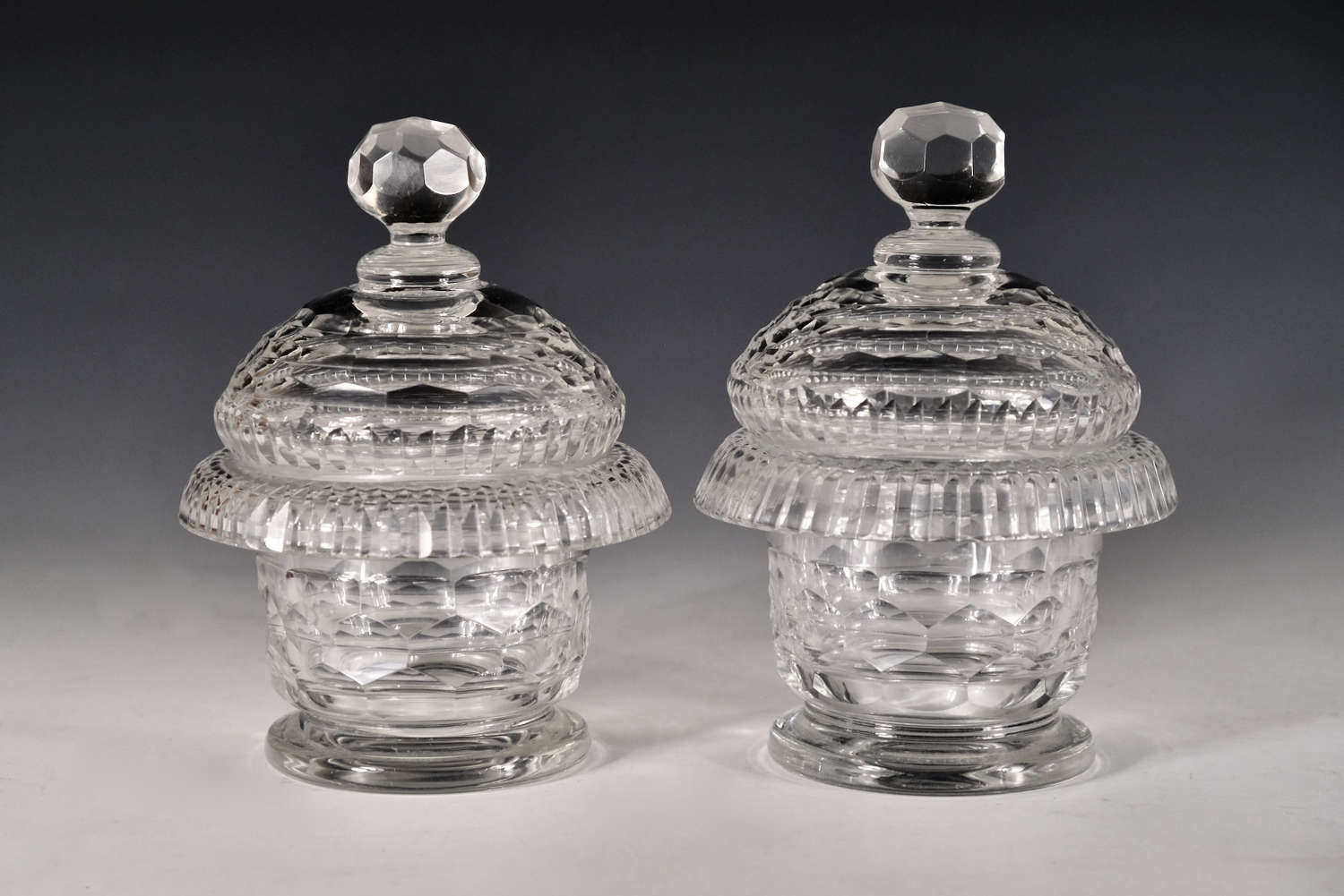 Antique preserve jars pair Irish c1820