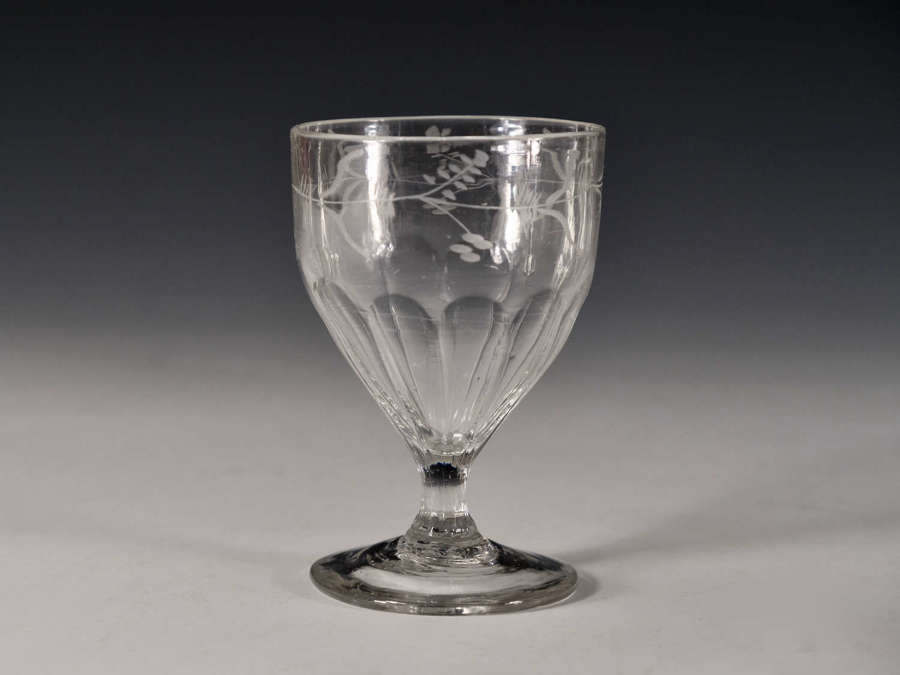 Antique glass rummer English c1800