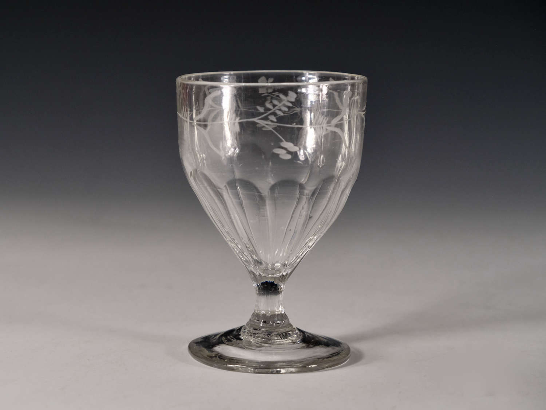 Antique glass rummer English c1800