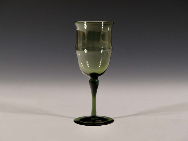 Antique wine glass T G Jackson Whitefriars c1870
