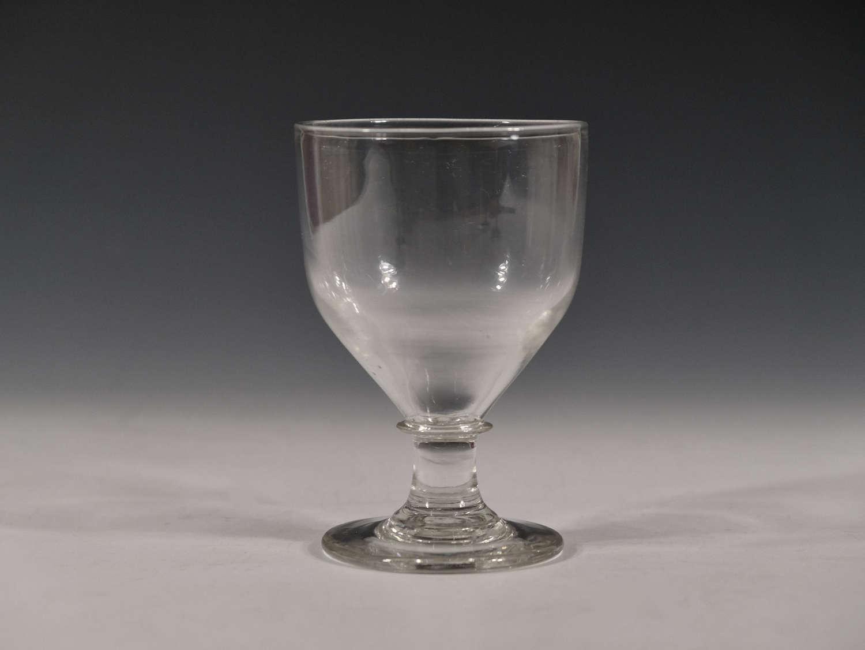 Antique glass rummer English c1810