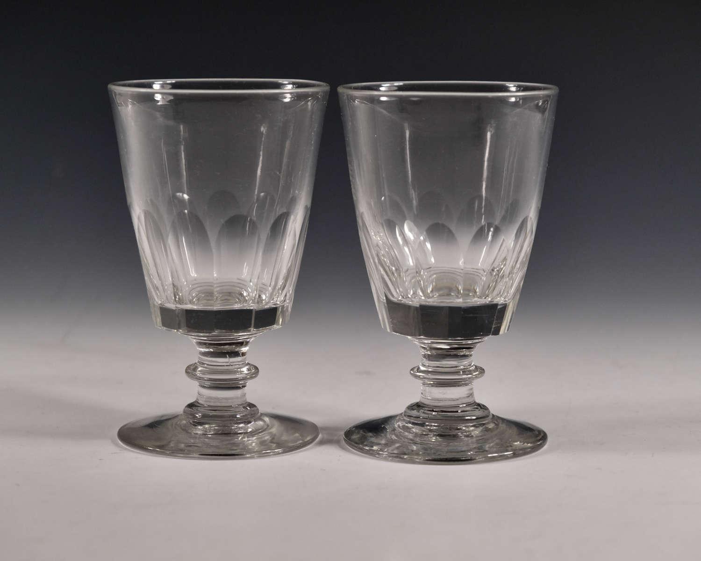Antique rummer pair English c1840