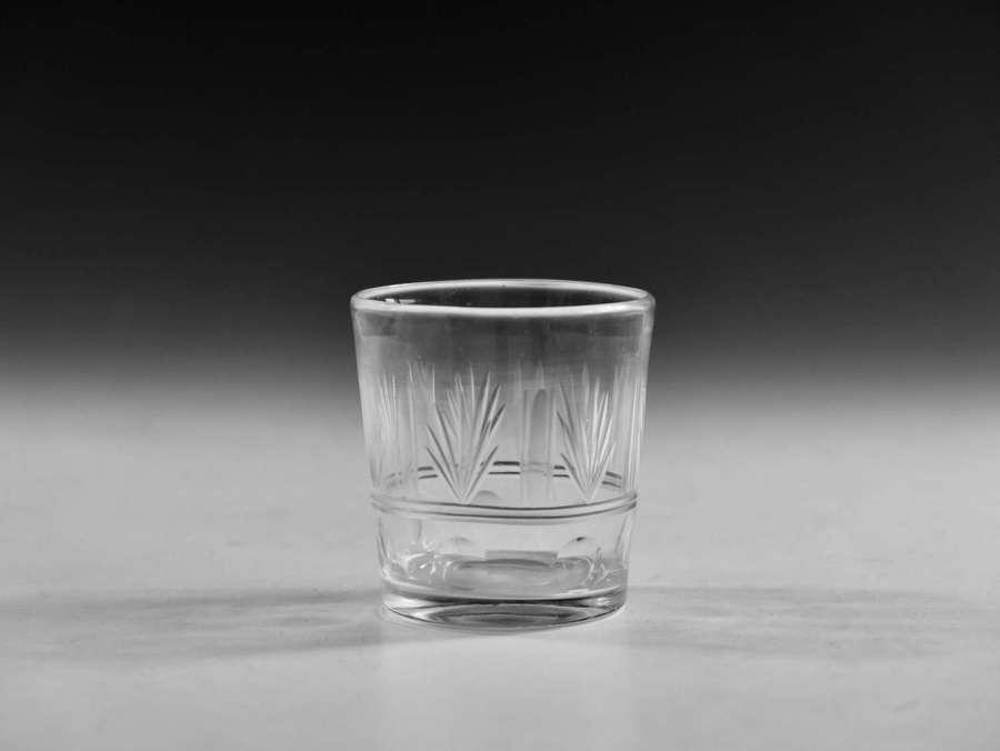 Antique glass tumbler English c1840