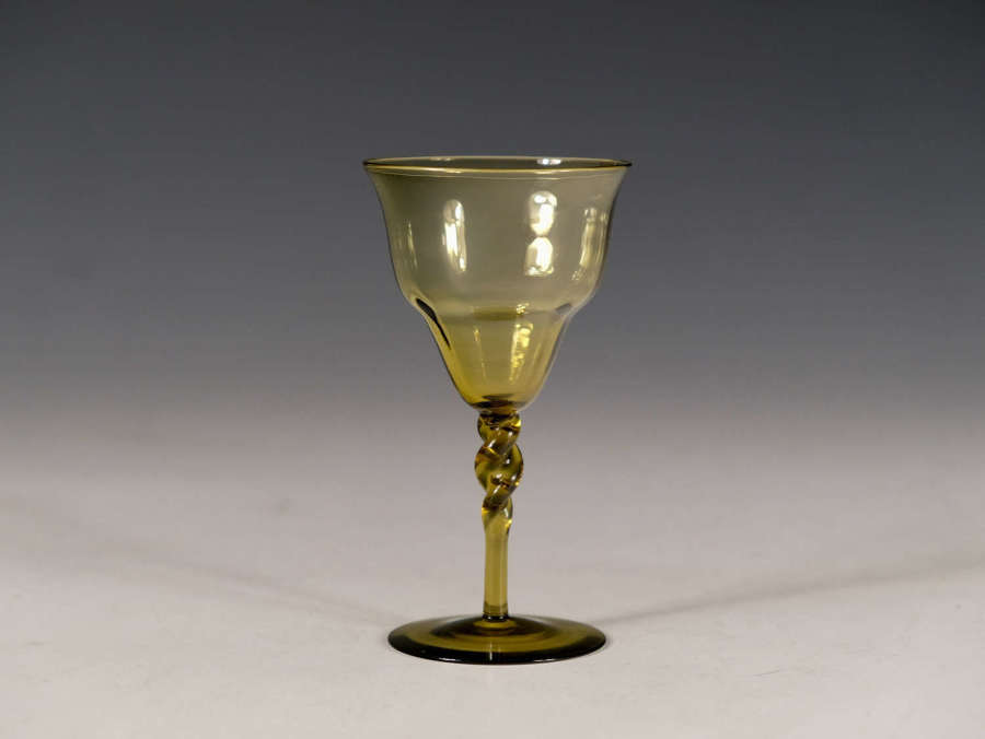 Antique glass amber Harry Powell C1880