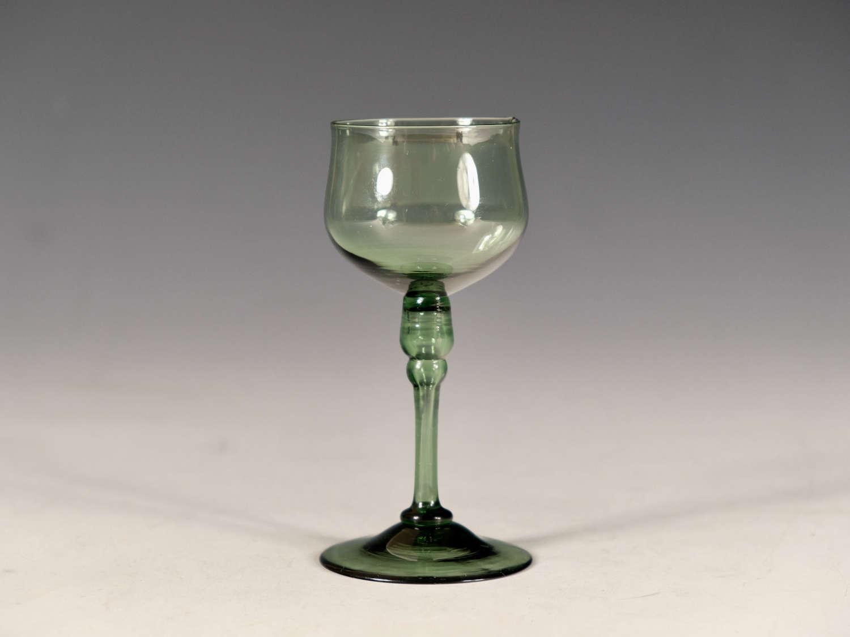 Antique glass green wine Whiiteriars c1880