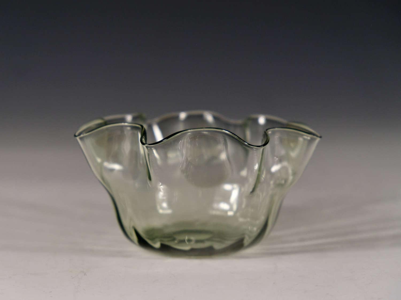 Antique glass finger bowl Whitefriars c1880