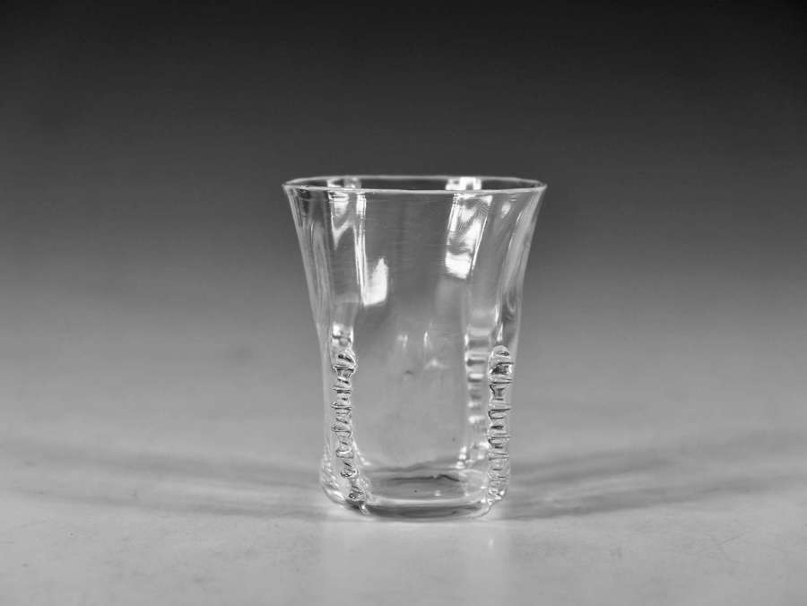Antique glass ribbed tumbler Harry Powell C1880